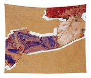 Reclining Semi-nude With Red Hat Tapestry