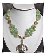 Red And Green Aventurine Turtle Necklace Tapestry