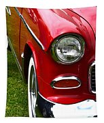 Red And White 50's Chevy Tapestry