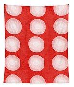 Red And White Shibori Circles Tapestry