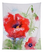 Red Anemones Tapestry