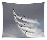Red Arrows Flying In Formation Tapestry