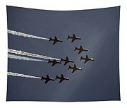 Red Arrows Flying Into The Sun Tapestry