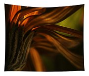Red Autumn Blossom Detail Tapestry