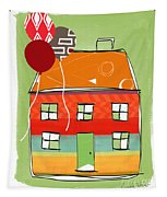 Red Balloon Tapestry