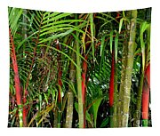 Red Bamboo Tapestry