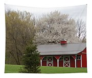 Red Barn Tapestry