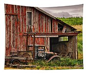 Red Barn And Truck In The Palouse Tapestry
