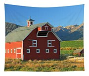 Dn5939-red Barn In The Wallowas Tapestry
