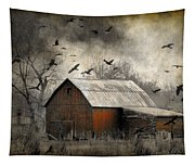 The Old Red Barn Tapestry