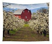 Red Barn Spring Tapestry