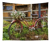 Red Bicycle Tapestry
