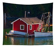 Red Boat House Tapestry