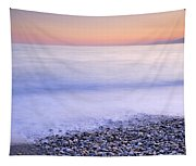 Red Calm At The Beach Tapestry