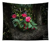 Red Camellias Tapestry