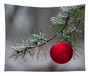 Red Christmas Ball Branch Tapestry
