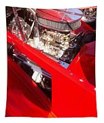 Red Classic Car Engine 2 Tapestry