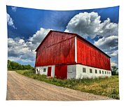 Red Country Barn Tapestry