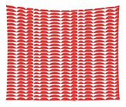 Red Cut Outs- Abstract Pattern Art Tapestry