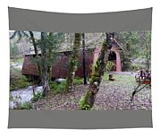 Red Covered Bridge  Tapestry
