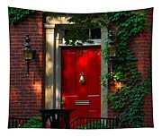 Red Door In Chicago Tapestry