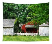 Red Farm Shed Tapestry