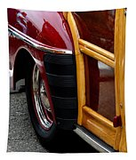 Red Fendered Woodie Tapestry