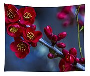 Red Flowering Quince Tapestry