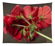 Red Geranium In Progress Tapestry