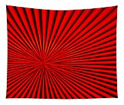 Red Glass Abstract 3 Tapestry