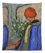 Red-haired Girl On A Sydney Train Tapestry