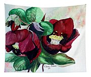 Red Helleborous Tapestry