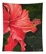 Red Hibiscus Tapestry