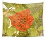 Red Hot Rose Tapestry