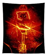 Red Light Abstract Tapestry