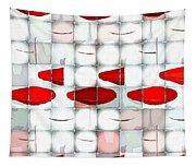 Red Light Glasses Tapestry