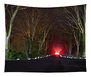 Red Light, Smoke And Flames Glowing Tapestry
