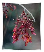 Red Maple Flowers Tapestry
