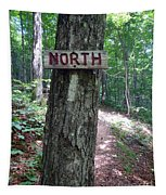 Red North Sign Tapestry