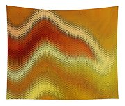 Red Orange And Yellow Glass Waves Tapestry