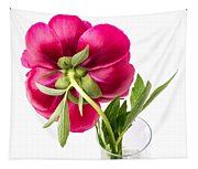 Red Peony Flower Back Tapestry