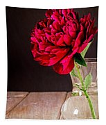 Red Peony Flower Vase Tapestry