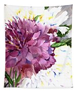 Red Peony Tapestry
