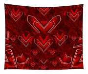 Red Pop Art Hearts Tapestry