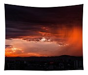 Red Rain Over Tana Tapestry