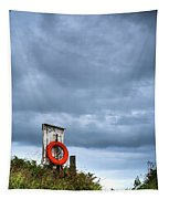 Red Ring Life Preserver Hanging Tapestry