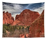 Red Rocks At Garden Of The Gods Tapestry