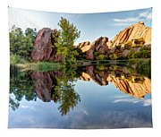 Red Rocks Reflection Tapestry