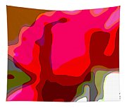 Red Rose Abstract Tapestry