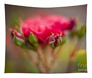 Red Rose Flourish Tapestry